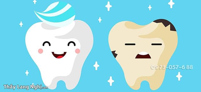 Hàm răng trắng sạch thơm tho là phần thưởng cho bạn