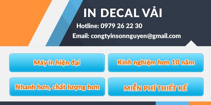 Dịch vụ in Decal vải tại Sơn Nguyên