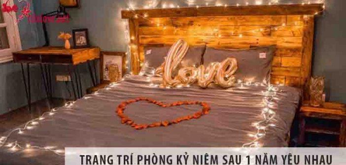 Trang trí phòng kỷ niệm 1 năm yêu nhau sao cho lãng mạn?